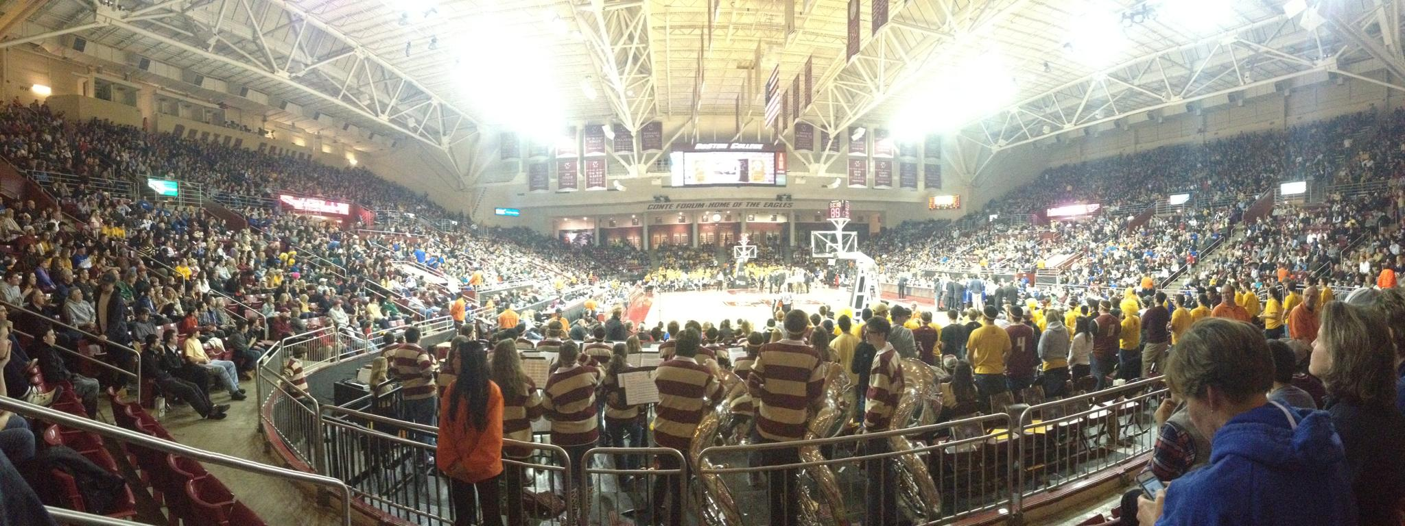 Conte Forum was packed as   the 10-13 Boston College Eagles nearly beat the No.4-ranked Duke Blue Devils