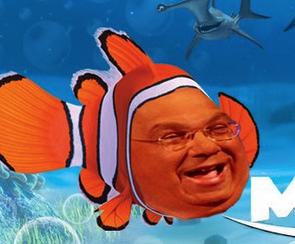 Boston Mayor Menino gets excited about Nemo. Photo courtesy of Bostinno.com