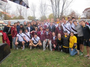 The BC men's rowing team had an excellent showing at the Head of the Fish Regatta in Saratoga, NY. Every boat medaled in some fashion. Photo Courtesy of Sean Fanning.