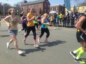 BC students running past St. Ignatius Photo taken by Christie Merino