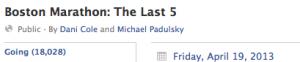 Screenshot of Final 5 FB Group