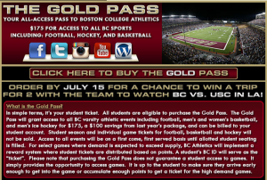 Screenshot taken by Teddy Kolva / Gavel Media. The Boston College athletics department has made a considerable push to increase fan attendance for home football games.