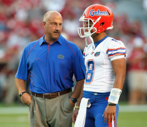 Screenshot taken by Teddy Kolva / Gavel Media. Steve Addazio served as interim head coach for the University of Florida after Urban Meyer left the team for reasons related to his health.