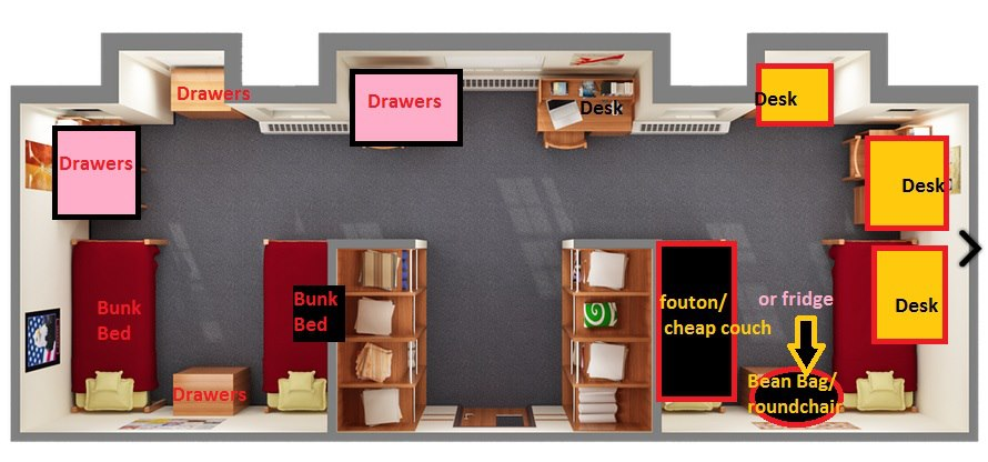 We even conjured up an alternative room plan for the quad.