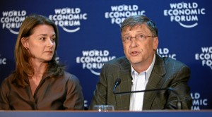 Bill and Melinda Gates. Image via World Economic Forum/Flickr.