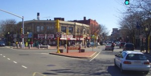 Davis Square in Somerville. Photo courtesy of Maksim/Wikimedia Commons.