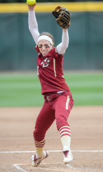 Nicole D'Argento played a huge role in BC's 5-0 record at the USF series. Photo courtesy: BCEagles.com