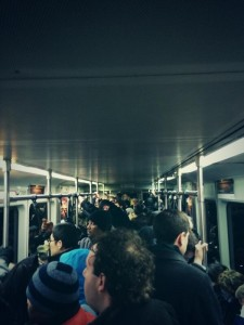 The average commute on the Red Line. Photo courtesy of PolitenessPts/Twitter