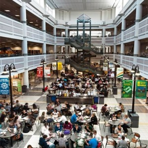 A food court at George Mason University. Photo courtesy of George Mason University/Facebook.