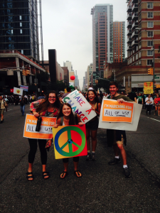 Photo courtesy of Alyssa Florack BC students at the People's Climate March