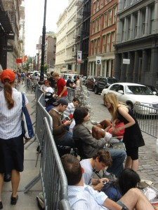 People on line for the next iPhone. Photo courtesy of Leo Prieto / Flickr