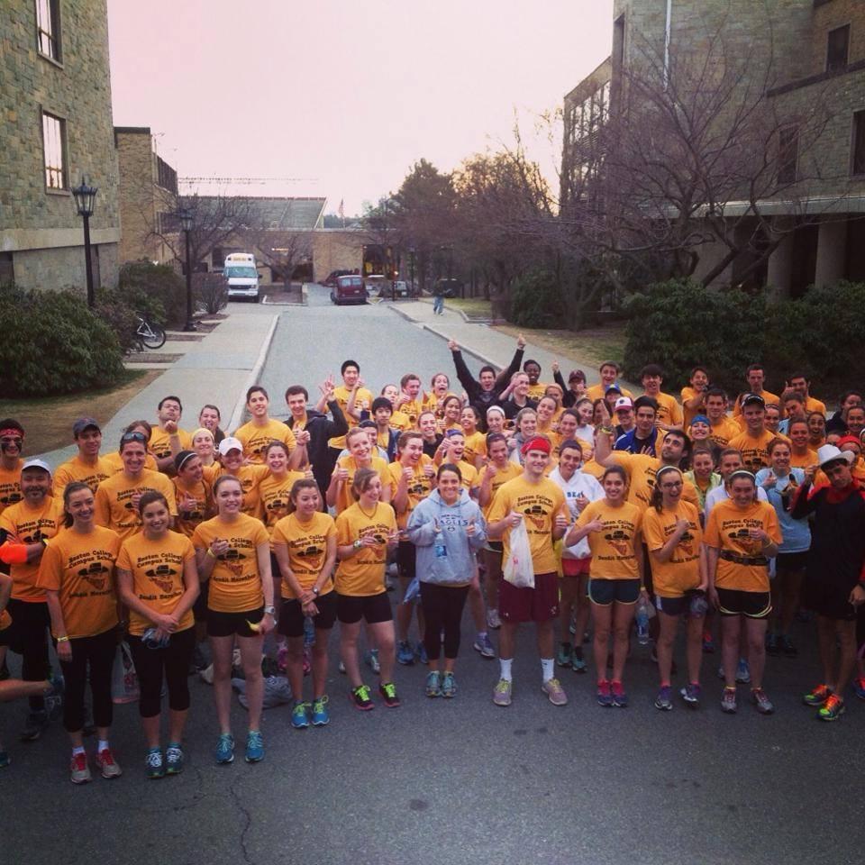 Photo Courtesy of Boston College Campus School Running Club & Marathon Team 2014-15 / Facebook
