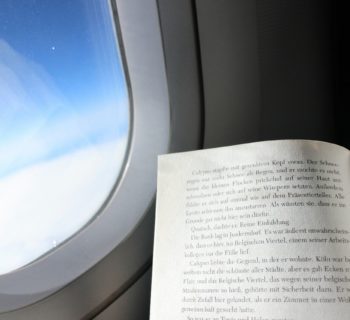 reading airplane