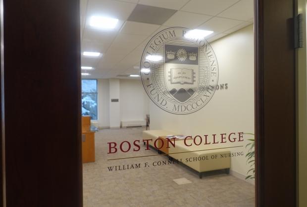 door of BC nursing school