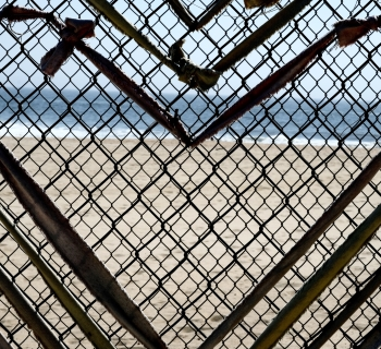 Heart in a fence.
